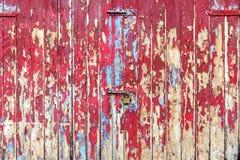 Old wooden garage doors or gates textured background Stock Image