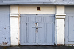 Old wooden garage gate Stock Image