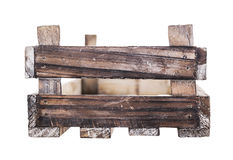 Old wooden garden box, isolated Stock Images