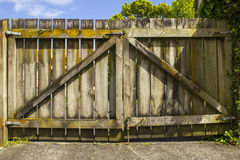 An Old Wooden Gate Stock Photos