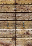 Old wooden gate background Stock Photography