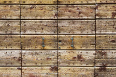 Old wooden gate background Royalty Free Stock Image