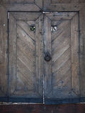 Old wooden gate into the castle. Royalty Free Stock Image