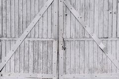 Old wooden gate closeup in retro style Stock Images