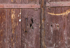 Old wooden gate in the countryside Stock Images