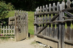 Old wooden gate entrance Royalty Free Stock Images