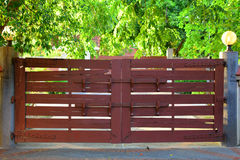 An Old Wooden Gate on the Main Entrance Stock Photography