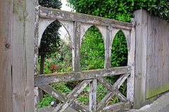 Old wooden gate Stock Image