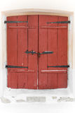 Old wooden gate red Royalty Free Stock Photo