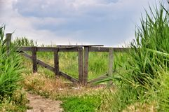 Old Wooden Gate to Paradise Stock Images