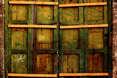 Old wooden gate Stock Photography