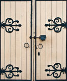 Old wooden gates Royalty Free Stock Image