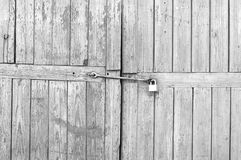 Old Wooden Gates with Padlock Royalty Free Stock Photo