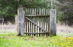 Old wooden gates Royalty Free Stock Photography