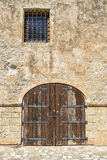 Old wooden gates and window in Rethymnon. Royalty Free Stock Photo