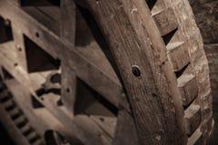 Old wooden gear. Windmills details. Zaanse Schans. Netherlands. Suburb of Amsterdam royalty free stock photos