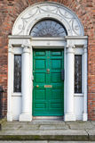 An Old Wooden Georgian Door of Dublin Stock Images
