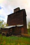 Old Wooden Grain Elevator Stock Photo