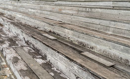 Old wooden grandstand Royalty Free Stock Image