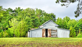 Old Wooden Gray Barn Stock Images