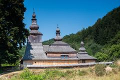 Mirola in Slovakia, old greek wooden church Royalty Free Stock Photography