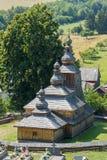 Mirola, Slovakia, old wooden church Stock Photography