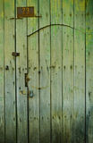 Old wooden green door - Vigan Royalty Free Stock Image