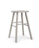 Old wooden grey stool isolated Royalty Free Stock Photography