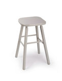 Old wooden grey stool isolated Stock Photography
