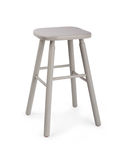 Old wooden grey stool isolated Royalty Free Stock Image