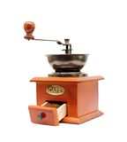 Old wooden grinder Royalty Free Stock Photo