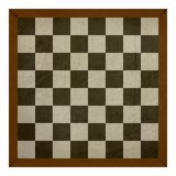 Old wooden grunge chess or draughts board Stock Photography
