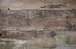 Old wooden grunge horizontal background. Old wooden mossy, rusty, calous, horny  grunge horizontal boards background Royalty Free Stock Photos
