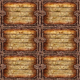 Old wooden grungy frame Stock Image