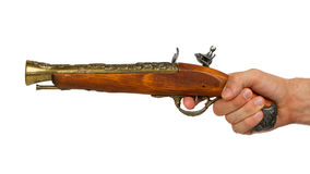 Old wooden gun Stock Image