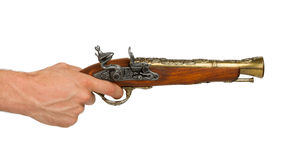 Old wooden gun Stock Photos