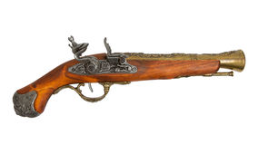 Old wooden gun Royalty Free Stock Image