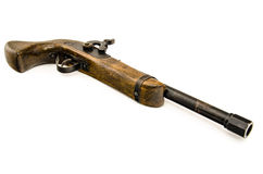 Old wooden gun isolated Stock Photo
