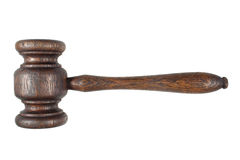 An old wooden hammer. royalty free stock photography