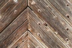 Wooden door background texture close-up Stock Photo