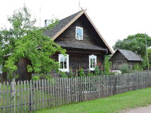 Old  wooden home, Lithuania Stock Photography
