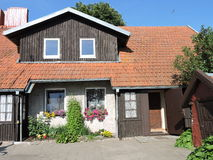 Old wooden home, Lithuania Stock Photos
