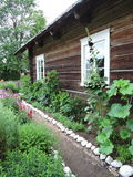 Old  wooden home, Lithuania Stock Images