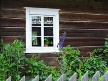 Old  wooden home, Lithuania Royalty Free Stock Image
