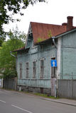 Old wooden home in Vyborg. The exterior of a old wooden home in Vyborg, Russia Royalty Free Stock Images