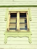 Old wooden home window, Latvia royalty free stock photo