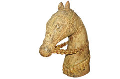 Old wooden horse. Picture of an Old wooden horse Royalty Free Stock Photos