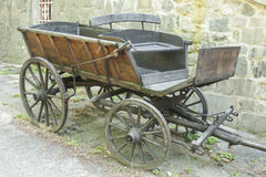 Old wooden horse wagon Stock Image