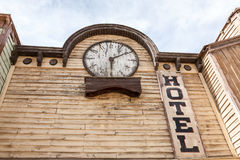 Old wooden hotel building Royalty Free Stock Photos