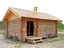 Old wooden house. Russian or Ukrainian old wooden house Royalty Free Stock Photography